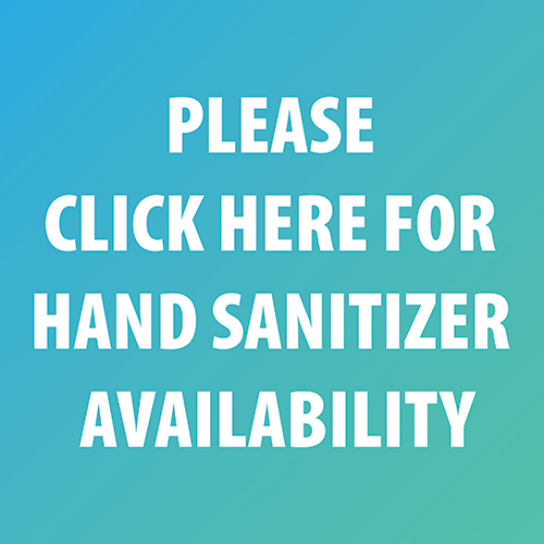 Hand Sanitizer is now available