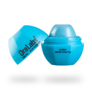 blue razberry 842r rvo lip balm with custom logo open
