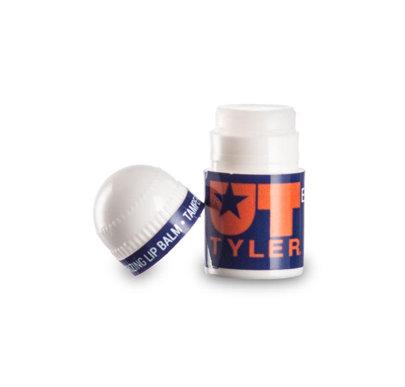 bullet mini lip balm custom label uncapped