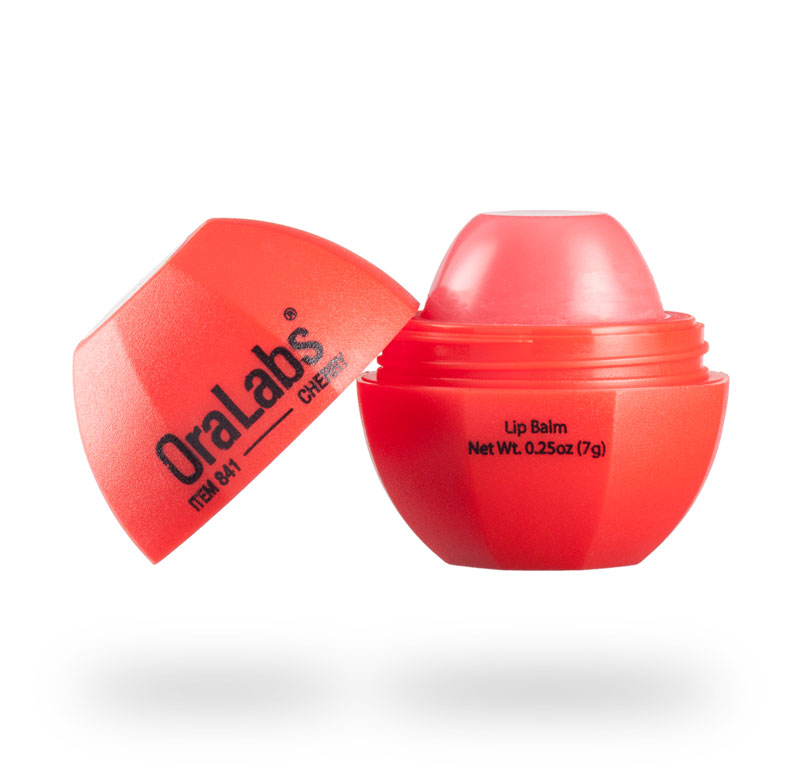 cherry 841r rvo lip balm with custom logo open