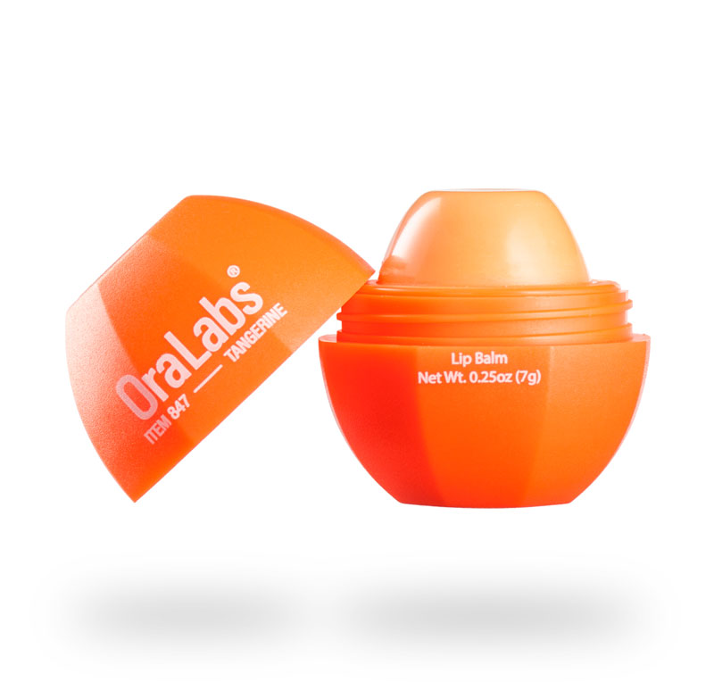 tangerine 847r rvo lip balm with custom logo open