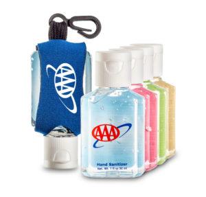1oz hand sanitizer custom label custom leash